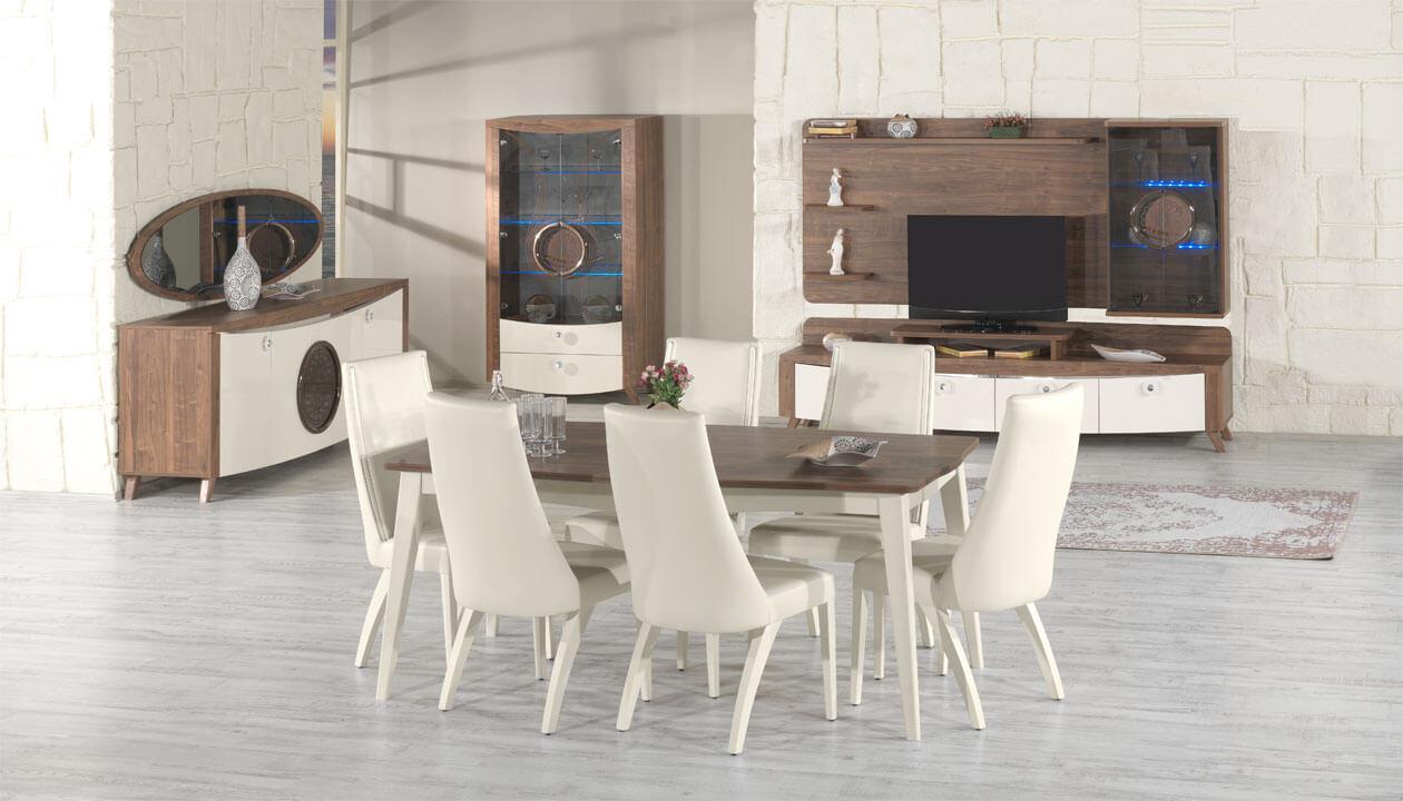 Ayder Beyaz Yemek Odasi Takimi Modelleri Ve Fiyatlari